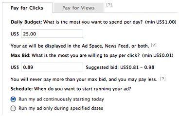 costo pubblicit� Facebook
