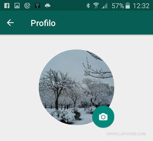 la foto del profilo su Whatsapp è stata cambiata